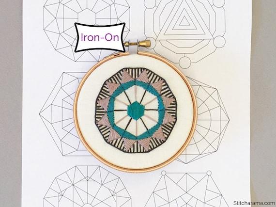 Sacred Geometry Iron On Embroidery Patterns Spiritual Iron Etsy