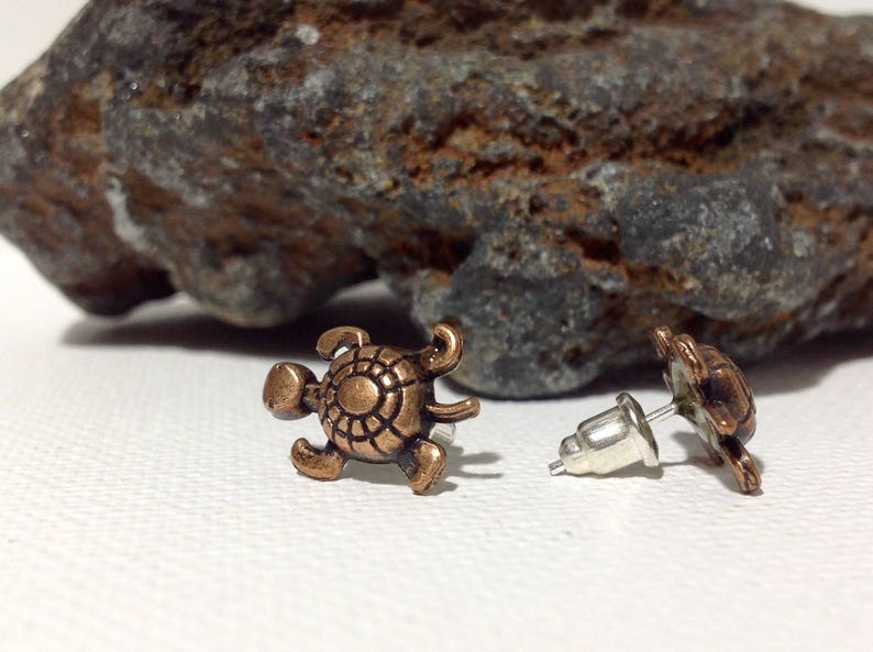 Turtle Stud Earrings Animal Jewelry Beach Style Earring Teen Girl Stud Sea Turtle Earring Gift For Girlfriend Christmas Present For Douther