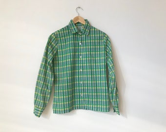 Vintage NOS 1970s 1980s Dickies Green Open Collar Button Down Work Shirt   Men/'s Small  80s Cholo Work Wear Utility Unworn