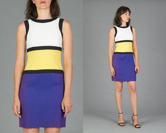80s Colorblock Mondrian Dress XS/S