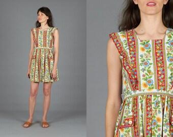 Striped Floral 60s Dress