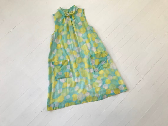 M 60s Pastel Dot Pocket Dress