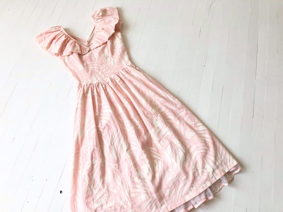 1980s Fredericks Of Hollywood Ruffled Pale Pink Pr