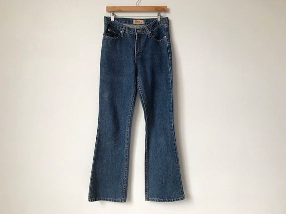 S/M 70s Flared Blue Denim Jeans