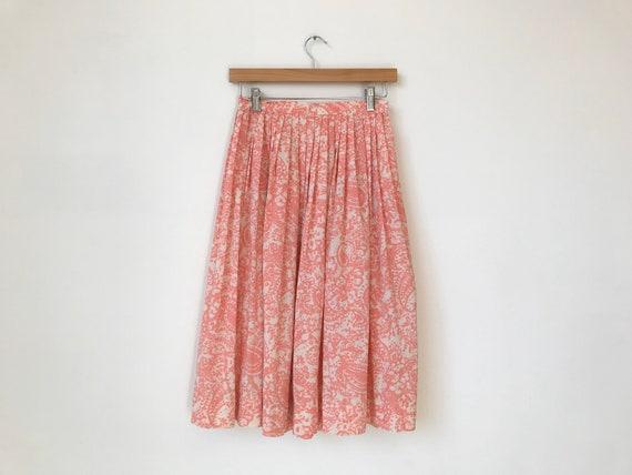 XS/S 60s Strawberries + Cream Printed Skirt
