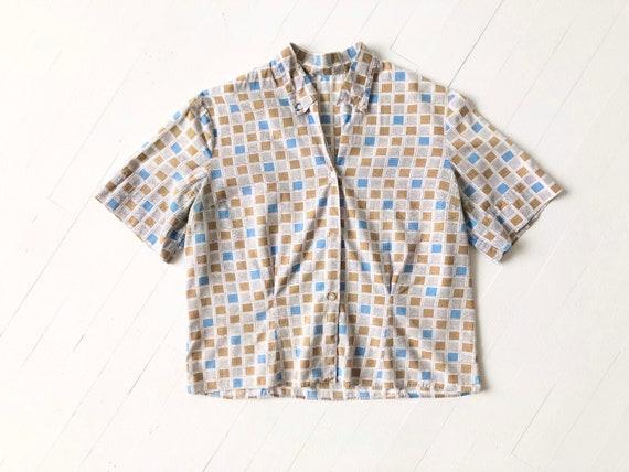1950s Square Print Shirt