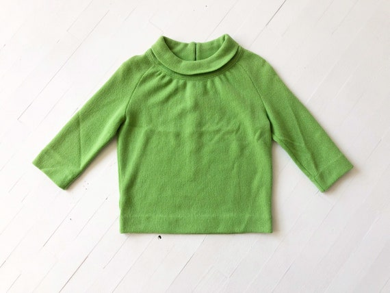 1960s Apple Green Wool Sweater