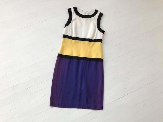 XS/S 80s Colorblock Mondrian Dress