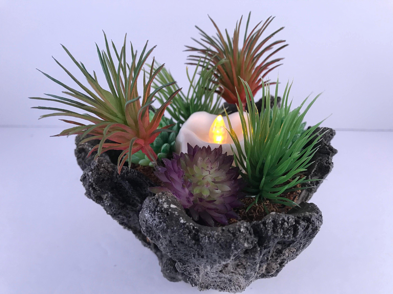 Light Artificial Succulent Dish Garden
