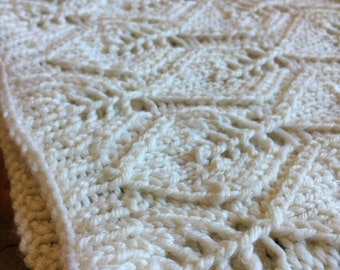 Hand knit cowl - cream silk blend