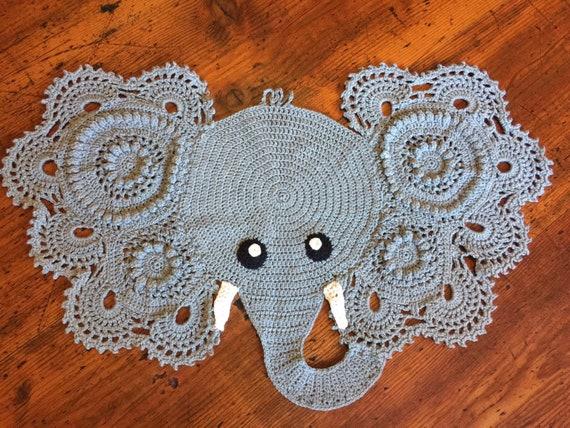 Elephant doily | Etsy | 428x570