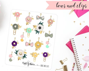 Bows and Clips | Planner Stickers