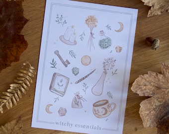 Witchy Essentials - Art Print