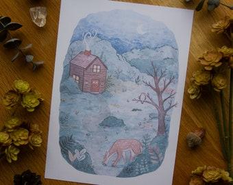Forest Night - Art Print