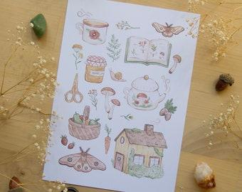 Cottage Essentials - Art Print