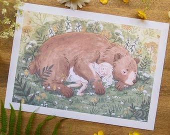 Forest Slumber - Art Print