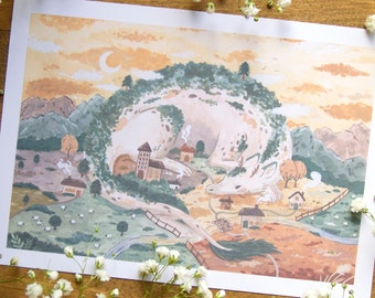 The Village Guardian - Art Print