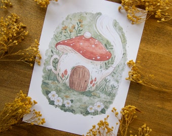 Mushroom Teapot - Art print