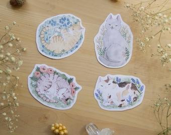 Flower Cats - Vinyl Sticker Set