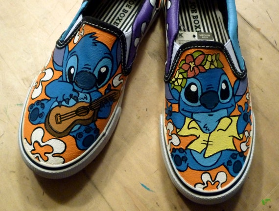 ee92c556e43a8 Custom Hand Painted - Disney Lilo and Stitch Canvas Shoes - Adult or Kids  Sizes