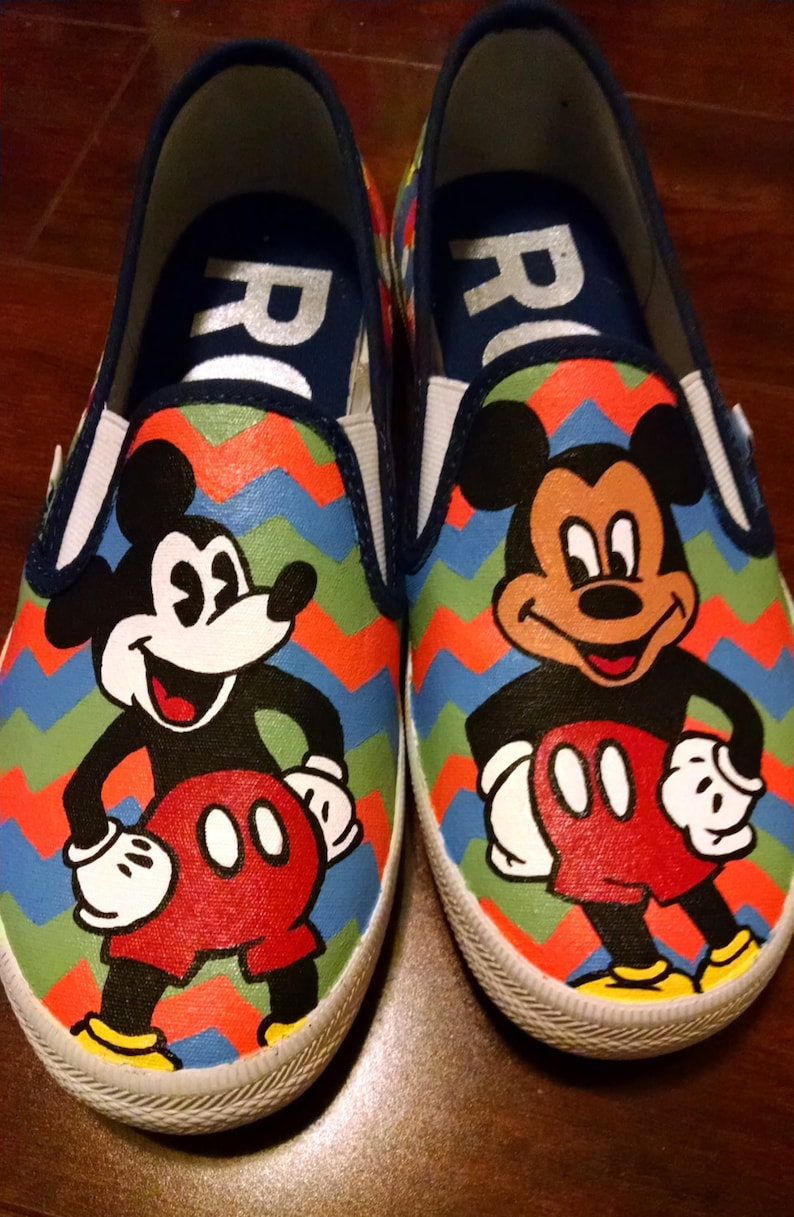 fd9d8d954e0b7 Custom Hand Painted - Mickey Mouse Canvas Shoes - Adult or Kids Sizes