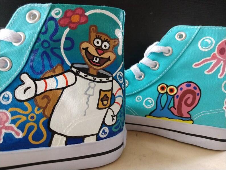 318165afe4f6 Custom Hand Painted Nickelodeon SpongeBob SquarePants