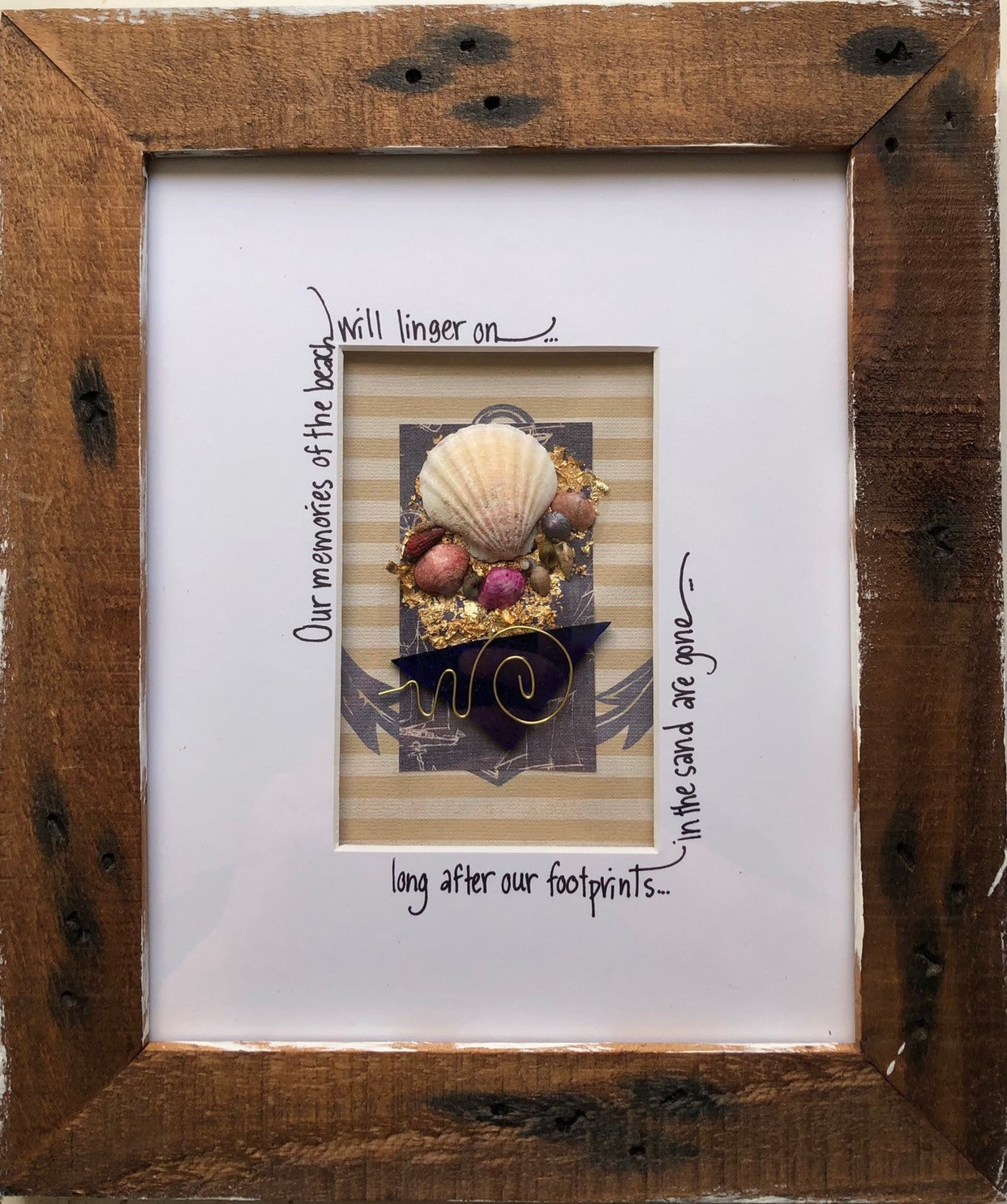 Our Memories Of The Beach With Frame Etsy