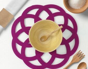 Felt placemat-Flower,Home Decor,Kitchen table Decor