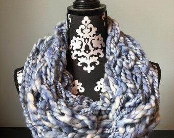 Handmade Light Blue Infinity Scarf