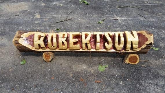 5 1//2 foot NAME LOG sign ***Gift? FREE SHIPPING