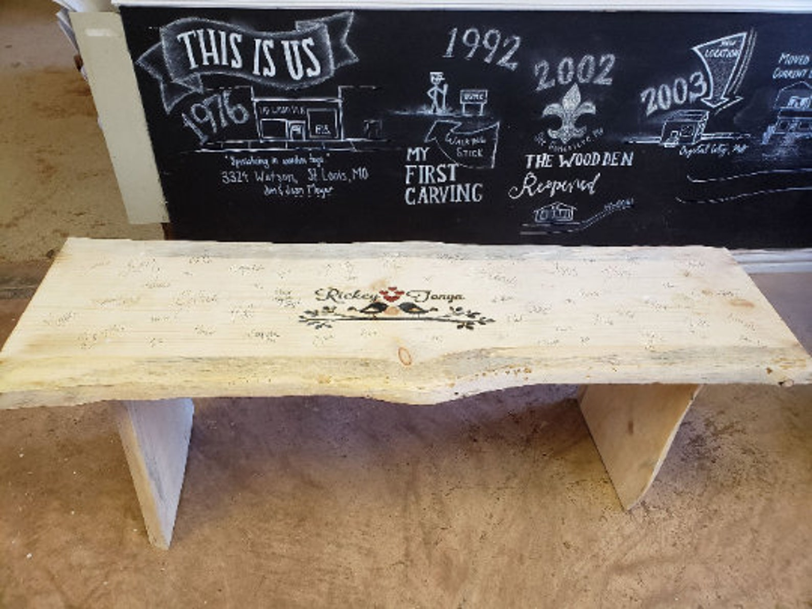 Wedding Guest Book Alternatives and Ideas wedding guests Signing Bench