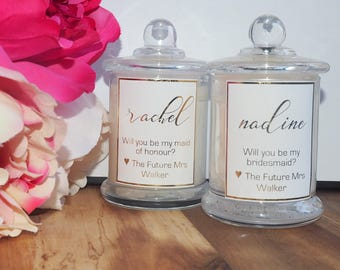 Wedding Favors | Personalised Candles | Soy Scented Candles | Bridesmaid Box | Wedding | Bridesmaid Gifts | Gifts For Her | Bridesmaid Gift