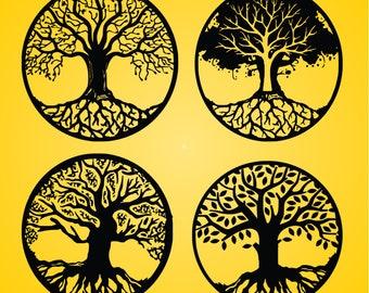 Life of treeTree of lifeTree silhouetteTree TattooTree | Etsy
