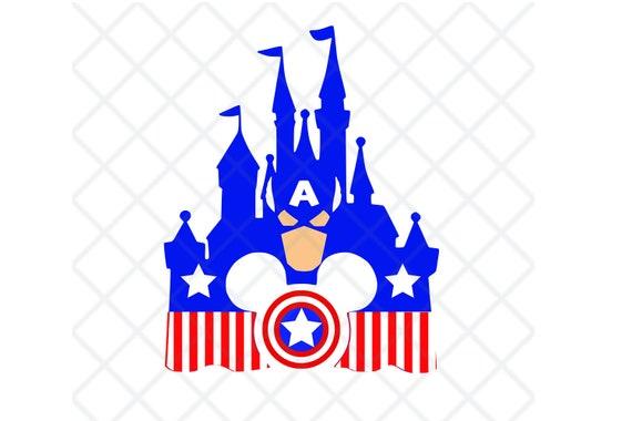 Disney, Marvel, Captain America, Super Hero, icon, Mickey, Mouse, Head,  Ears, Digital, Download, TShirt, Cut File, SVG, Iron on, Transfe