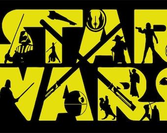 star wars, star wars svg, jedi svg, luke skywalker, luke skywalker svg, yoda svg, star wars life, svg, SVG Design Silhouette Studio Software