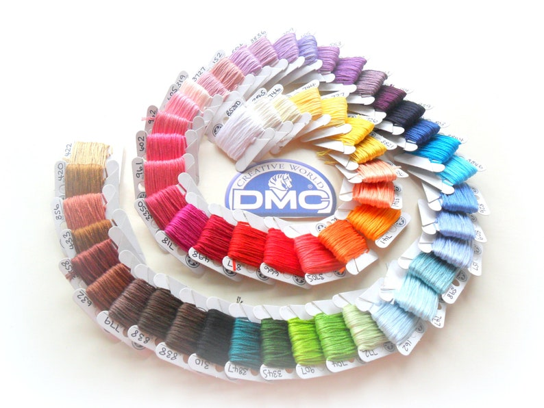 PYO DMC threads pick your own colours from item description list 5 or more
