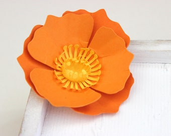 Paper poppies etsy more colors loose paper poppies mightylinksfo