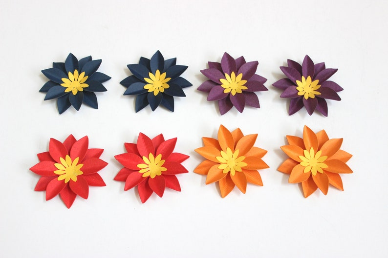 Simple Paper Flower Table Decorations Paper Decor Paper Flowers Gift Decorations Shower Decorations Birthday Decorations Set Of 8