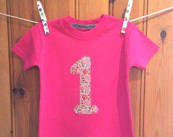 Baby girl 1st birthday outfit * 1st birthday * girl birthday t shirt * personalised t shirt * 2nd/3rd/4th birthday tshirt* Yew Tree Stitches