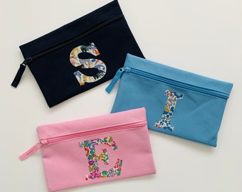 sunglasses holder privacy pouch Liberty floral zip case zipper case pencil pouch notions holder handbag organiser phone case