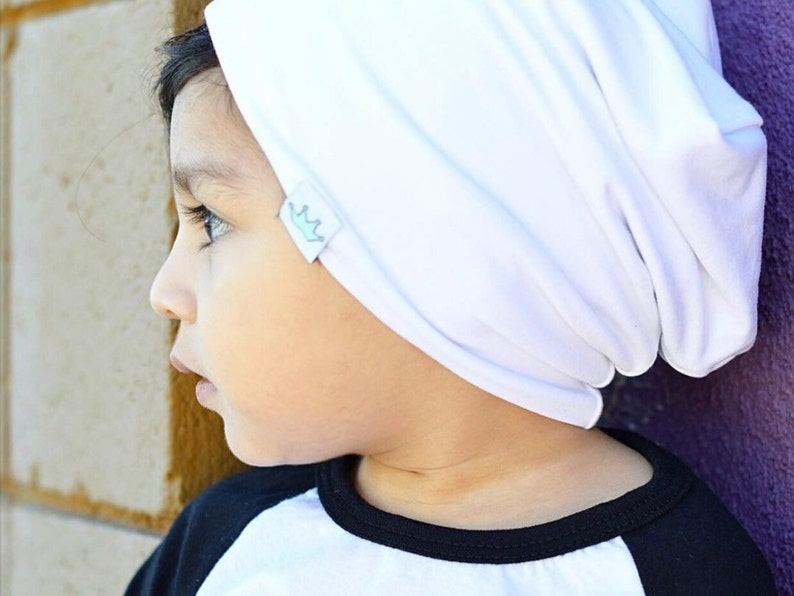 86b2513c White slouchy baby beanie boy / White slouch beanie / Hipster   Etsy