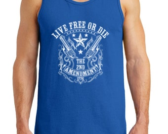 eb68ded68c8b0 Men s Live Free or Die Heavy Cotton Tank Tops – XS ~ 3XL