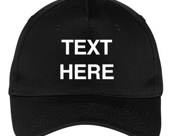 Create Your Own Text - 5 Panel Twill Caps for Men   Women - Personalization  Customization Baseball Cap (ct-001-bc) 431d6feb53e7