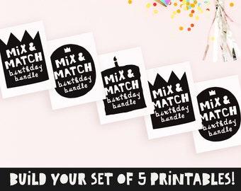 Mix & match, Notorious ONE birthday party, Hip hop birthday decor, Big one sign, 2 legit to quit, 3 thang, Rap lyrics wall art, DIGITAL FILE