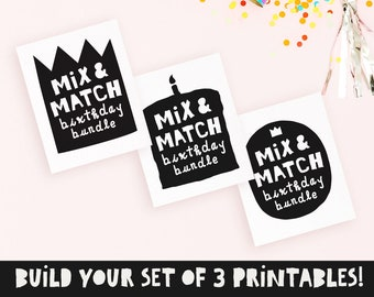Notorious one birthday party decor, Mix & match, Notorious birthday, Hip hop birthday decor, Big one sign, 2 legit to quit, DIGITAL FILE
