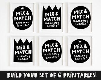 Mix & match, Hip hop nursery art, Rap nursery wall art printable, Nursery quote set, Hip hop baby gifts, Rap lyrics wall art, DIGITAL FILE
