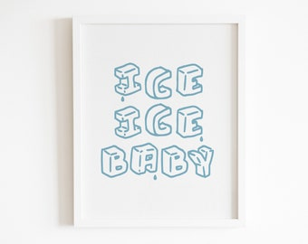 Ice ice baby lyrics | Etsy