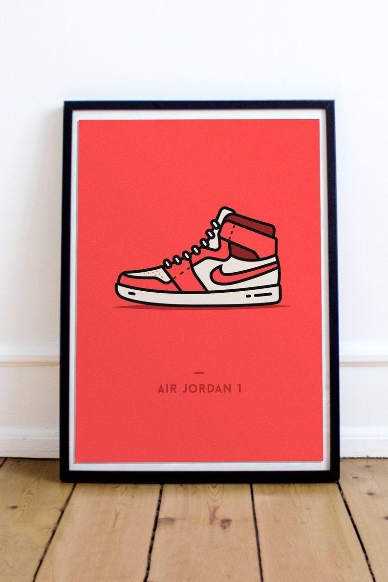 the best attitude c0097 6f950 Nike Air Jordan Poster Sneaker Art Poster Sneakerhead Gift   Etsy