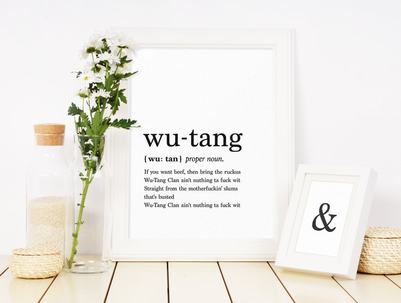 Wu Tang Clan Rap Lyrics Wall Art Definition Print Quote Etsy