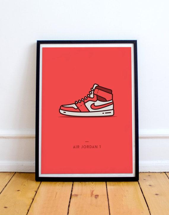timeless design 5e220 4489a ... sale nike air jordan 1 shoes sneaker poster sneakerhead shoe etsy 30d01  9a5bc